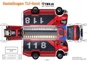 Bastelbogen TLF – FWR.ch